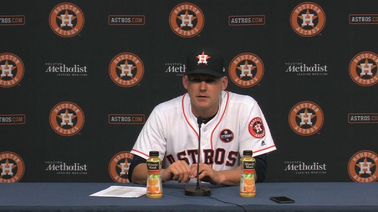 Hinch on the Astros' bullpen