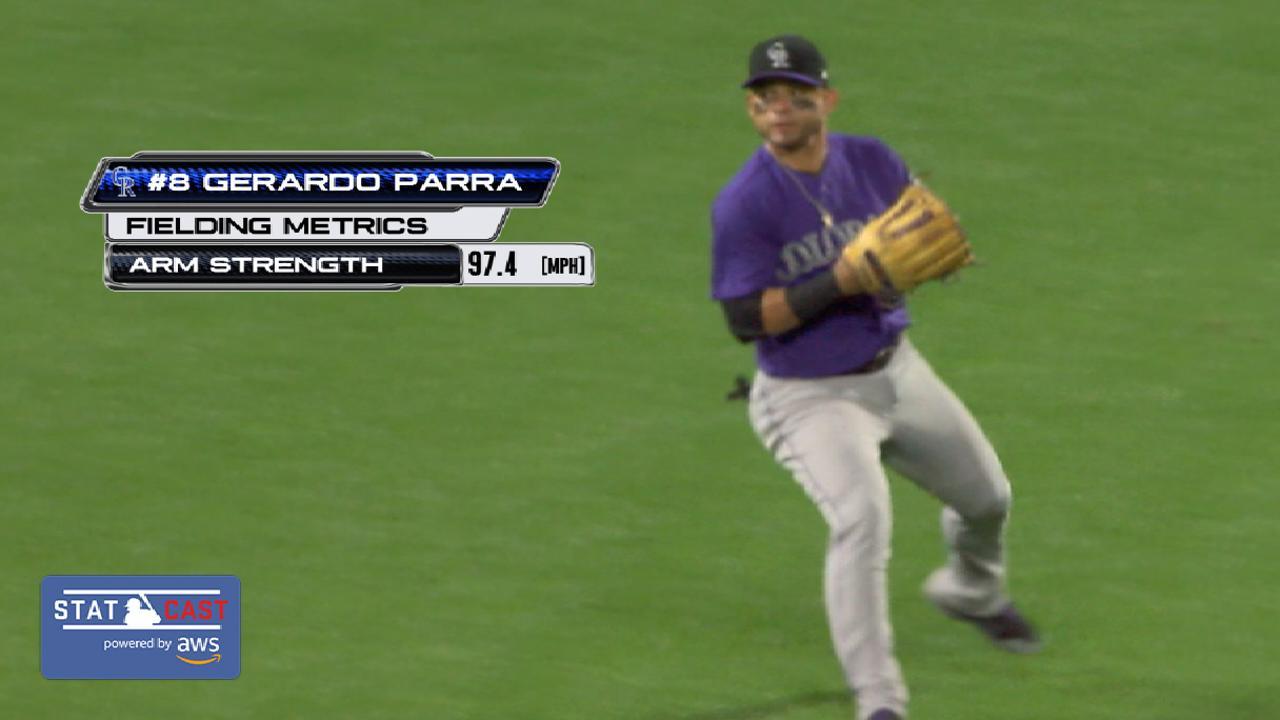 Statcast: Parra's 97-mph throw