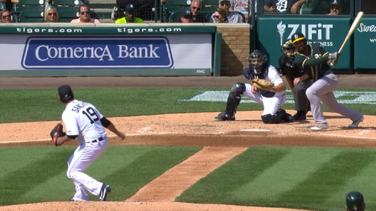 Semien provides offense as A's sweep Tigers