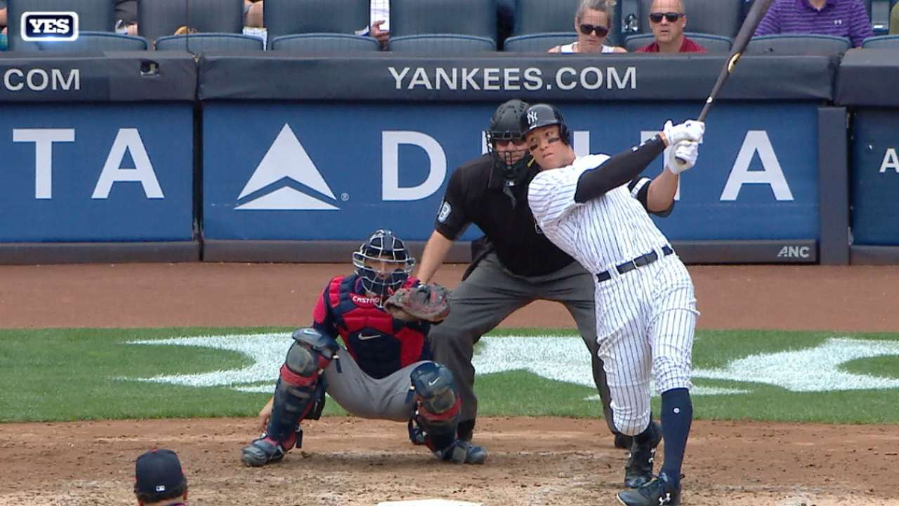 Ofensiva de Yankees estalla para barrer a los Mellizos