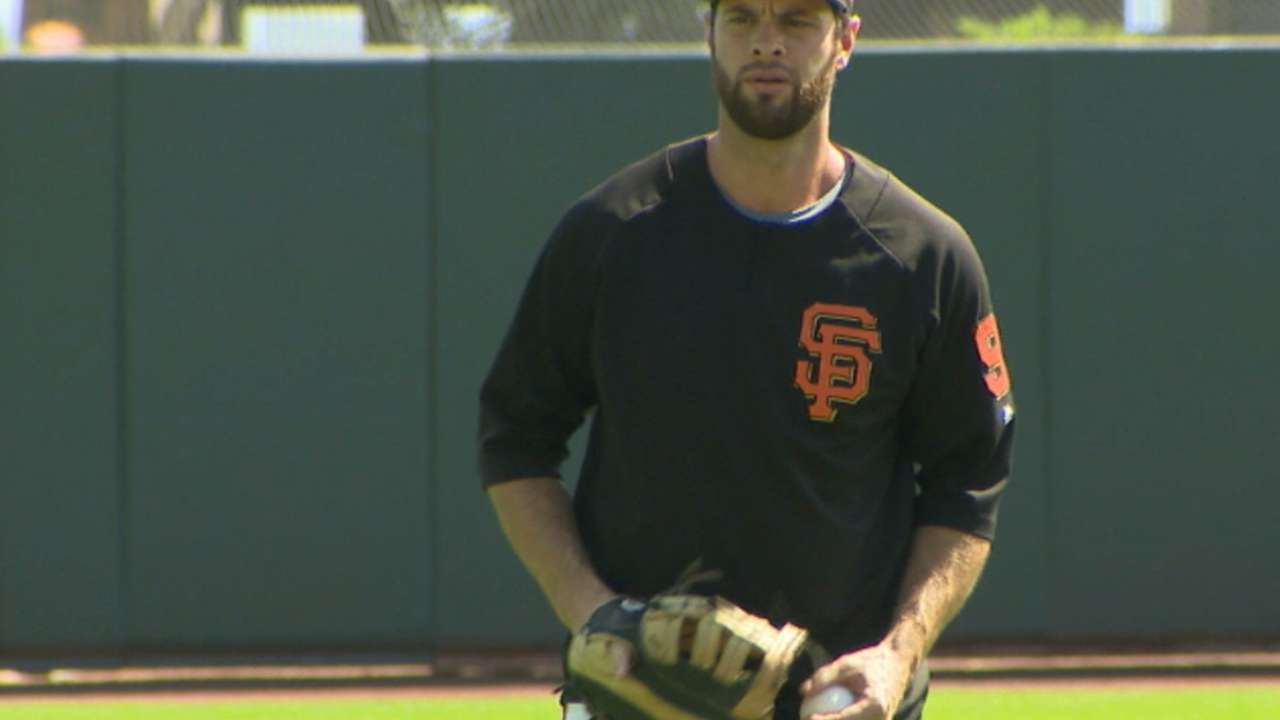 Belt, out with concussion, takes part in drills