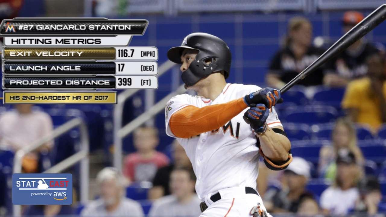 Statcast: Stanton's 116.7-mph HR