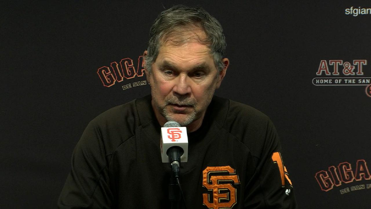 Bochy on Moore, win over Rockies