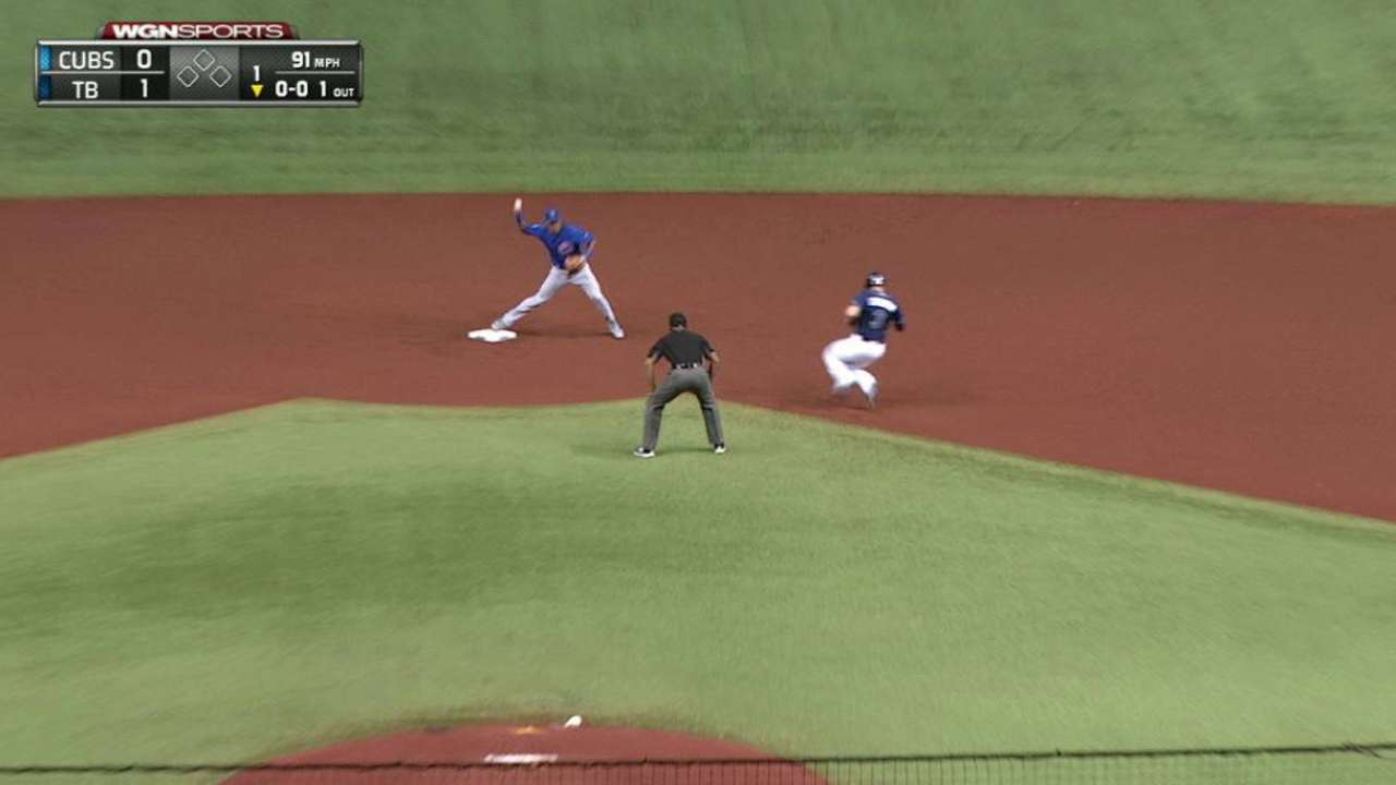 Cubs convert double play