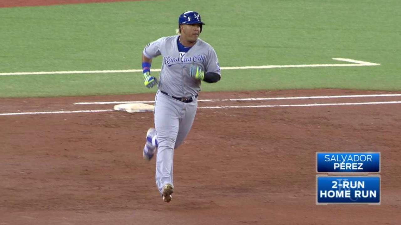 Perez's two-run home run