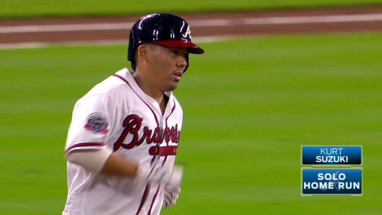 Surprising Suzuki sets career high in homers