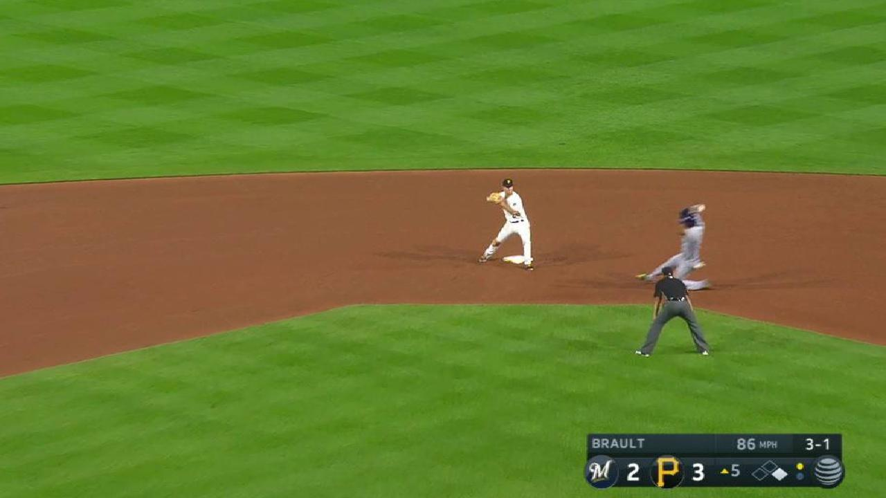 Brault induces a double play
