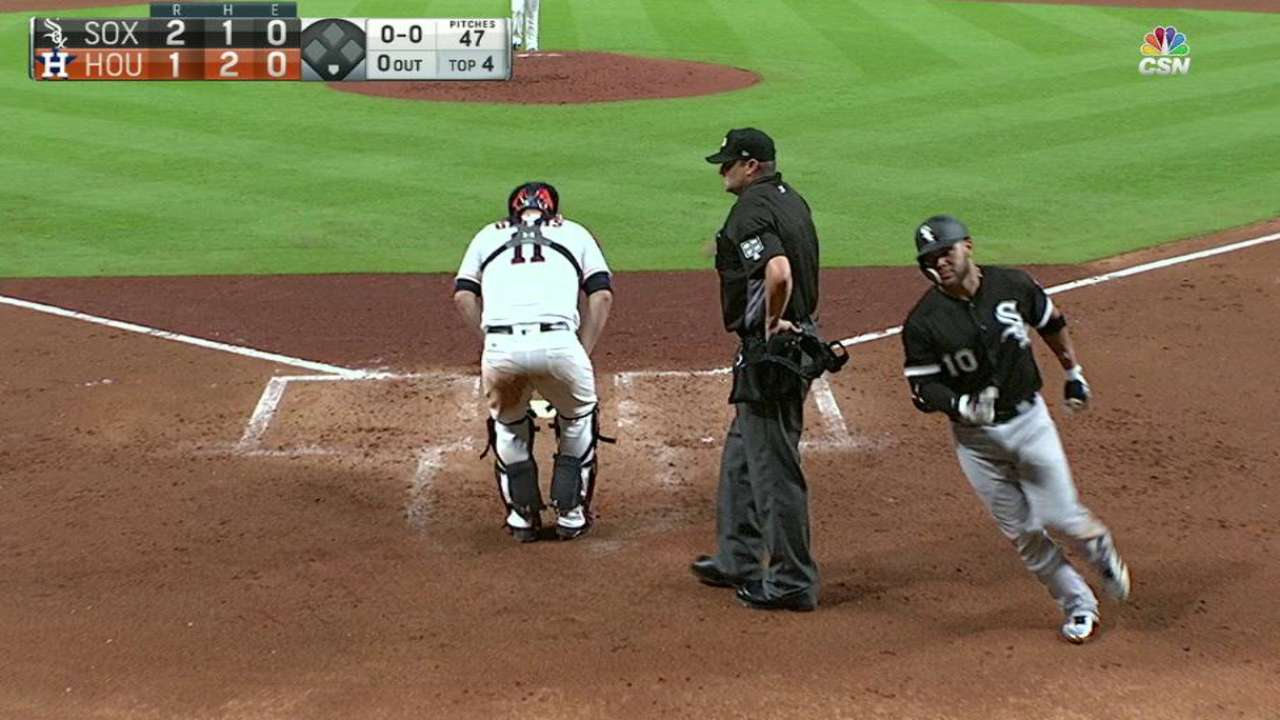 Moncada's two-run homer