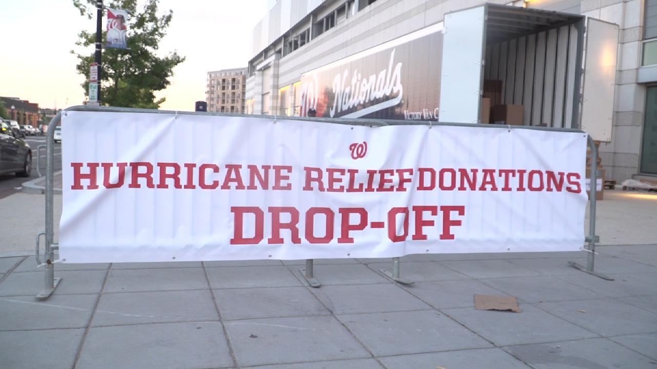 Nationals' hurricane help