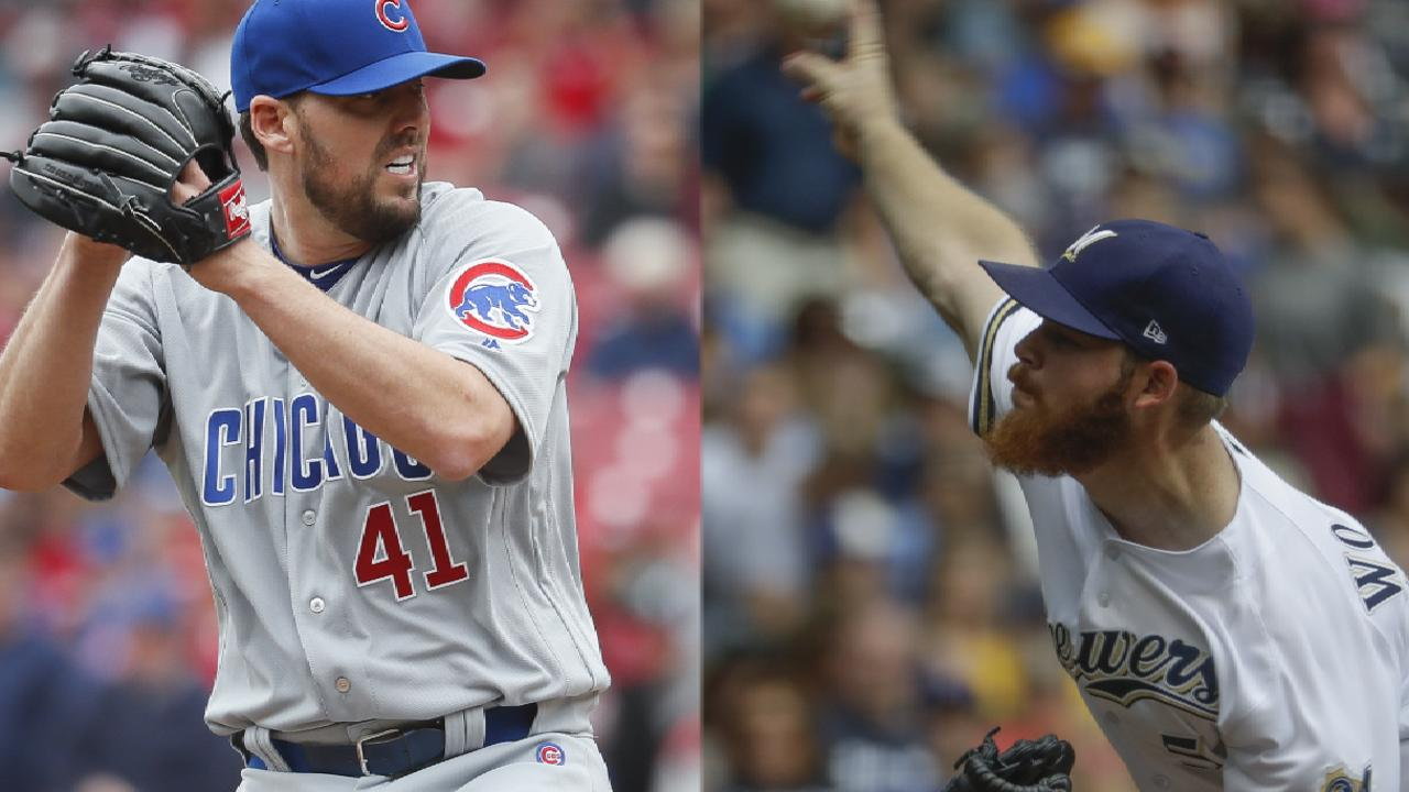 Woodruff, Lackey up next in Crew-Cubs clash