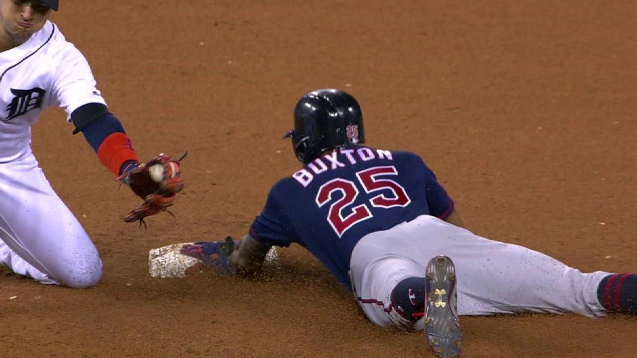 Buxton's 22nd consecutive steal