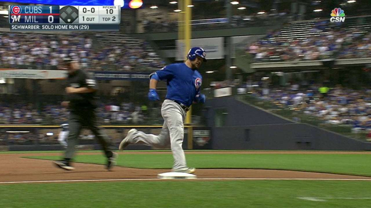 Schwarber's solo home run