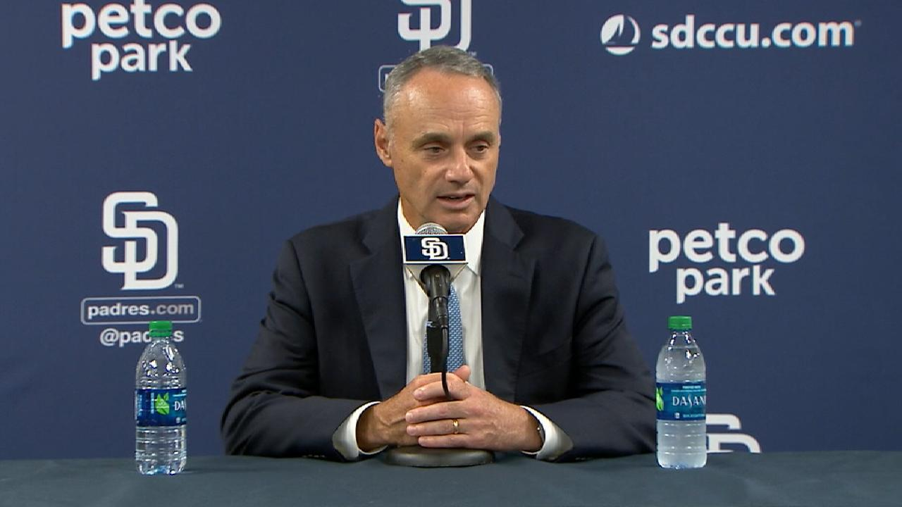 Manfred on netting, park safety