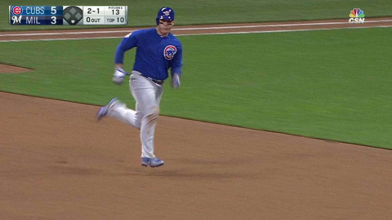 Rizzo crushes a triple