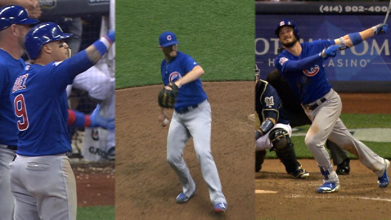 Goodnight, Kris! Cubs great late vs. Crew