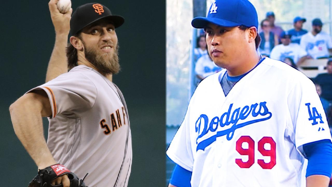 Bumgarner to face Dodgers for final time in '17