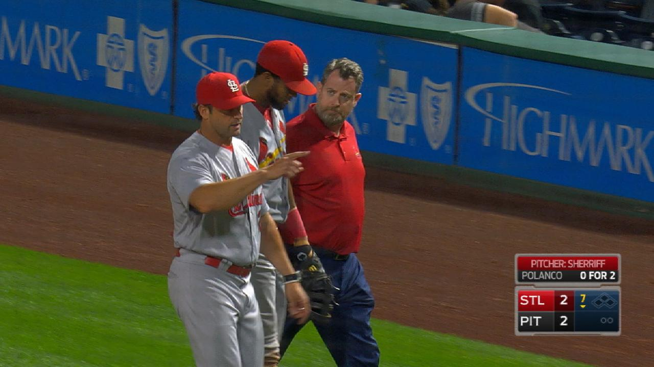 Jose Martinez exits game in 7th