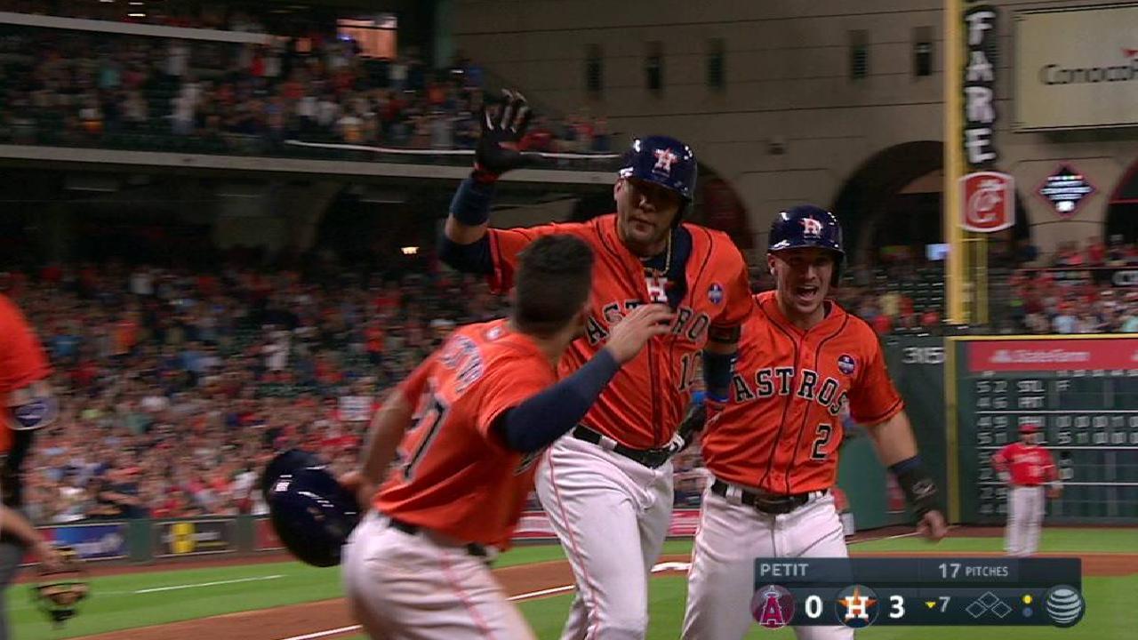 Gurriel comanda victoria de Astros sobre Angelinos