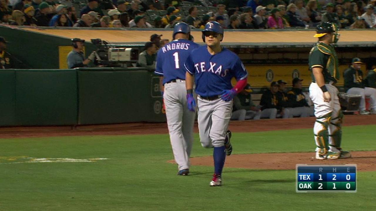 Rangers lose to streaking A's, slip in WC race