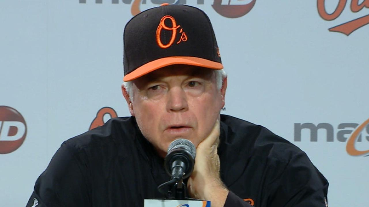 Showalter on 8-3 loss to Rays