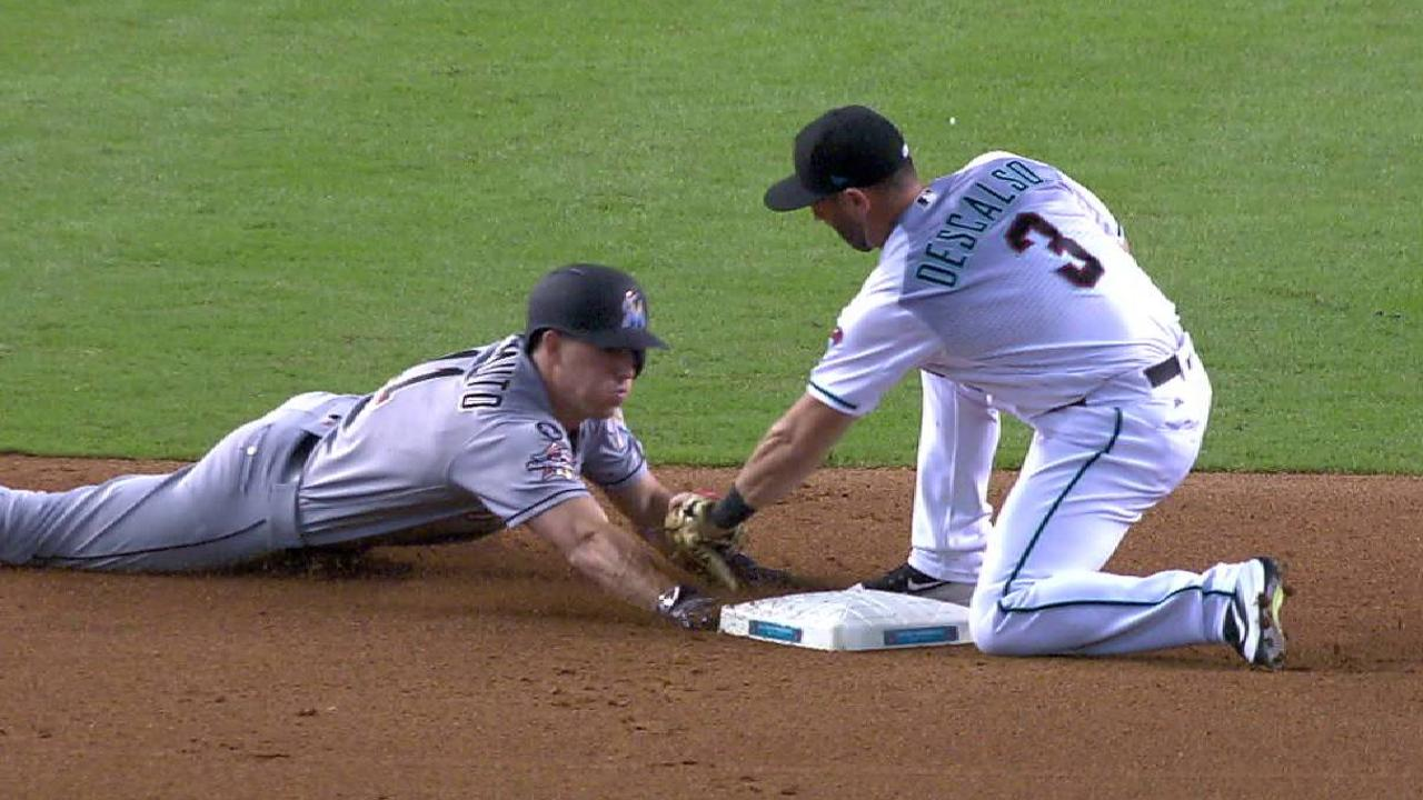 Marlins challenge out call