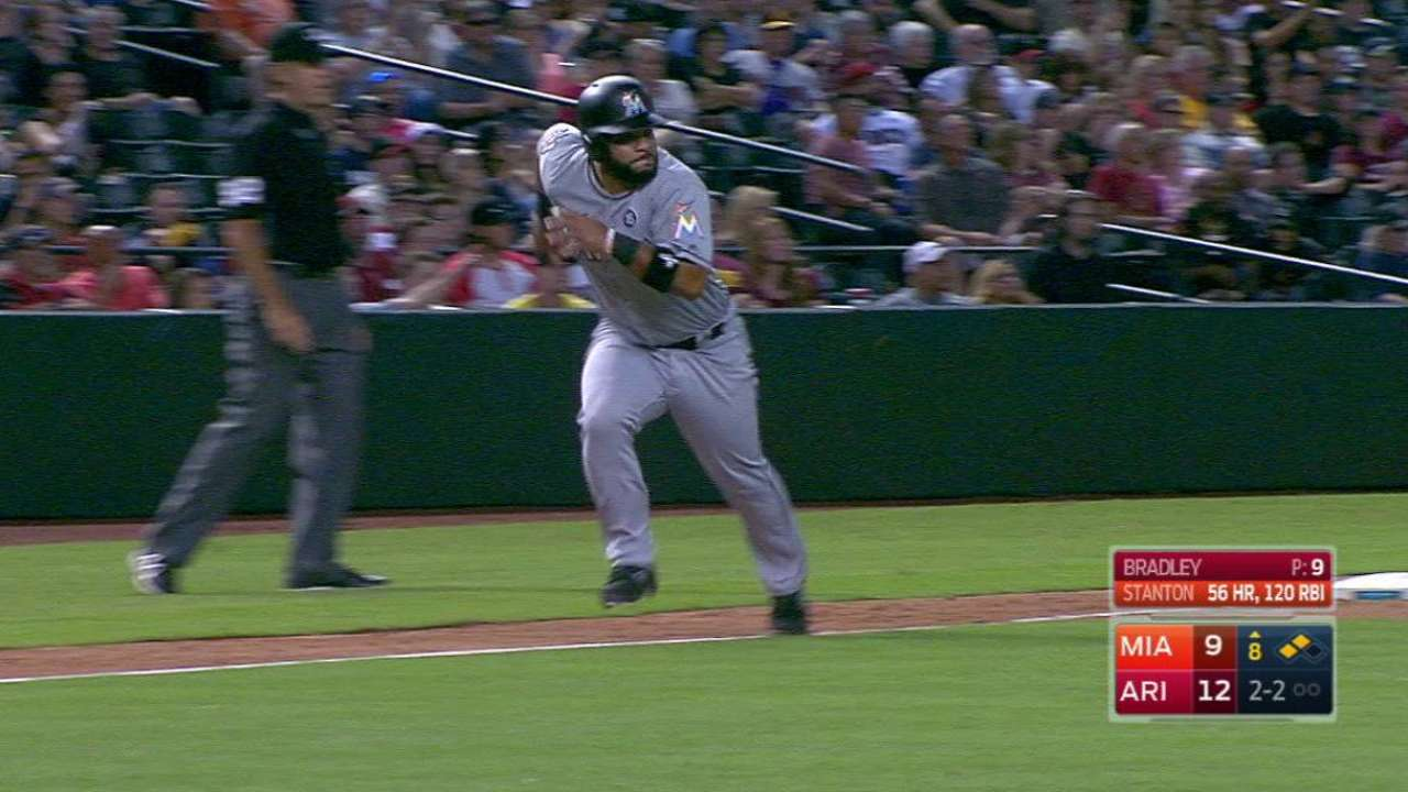 Stanton collects 121st RBI