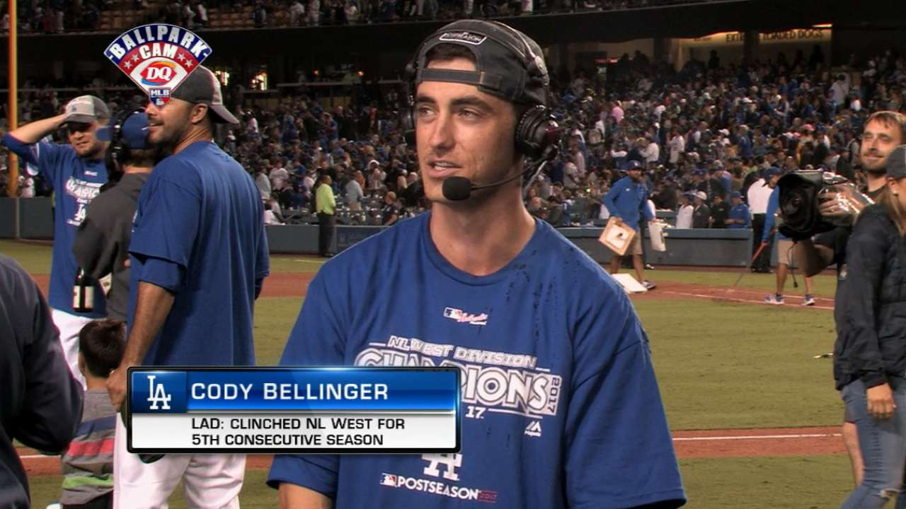 Bellinger on clinching NL West