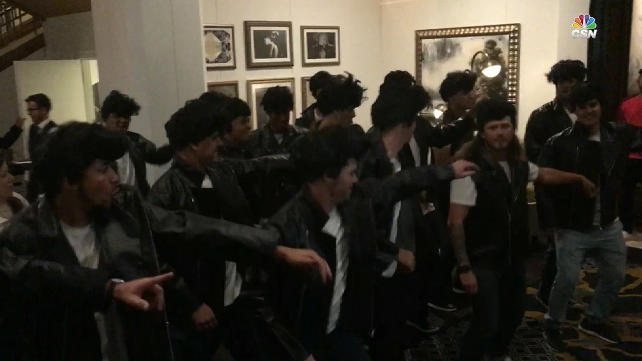 Phils' rookies perform 'Grease' song at hotel