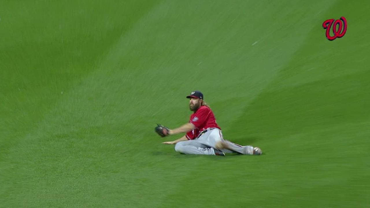 Werth's nice sliding catch