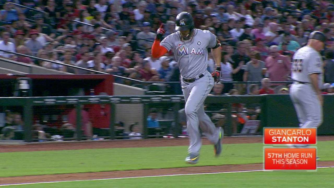 Stanton's 57th home run