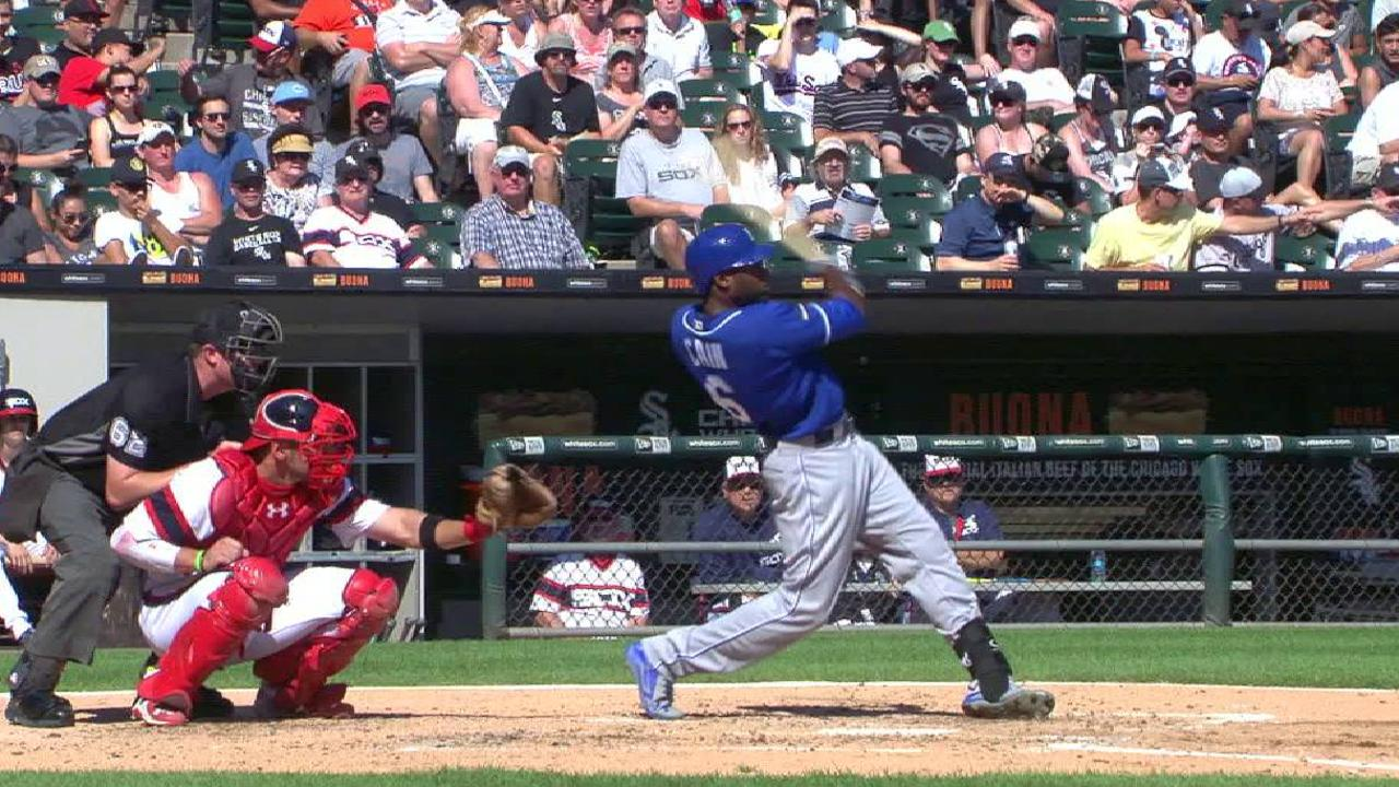 Cain's HR the lone run as Royals fall in WC race