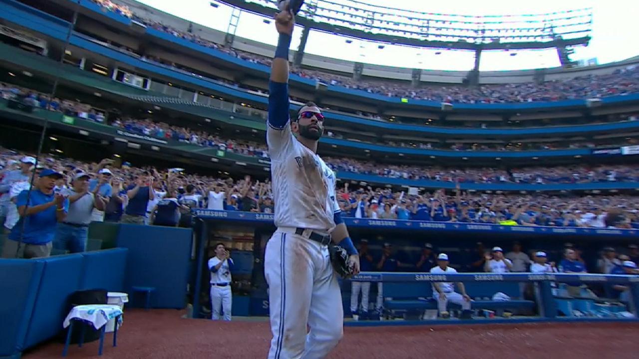 Blue Jays celebrate Bautista