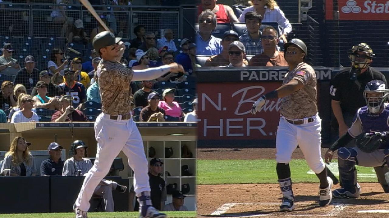 Villanueva homers again, but Padres fall to Rox
