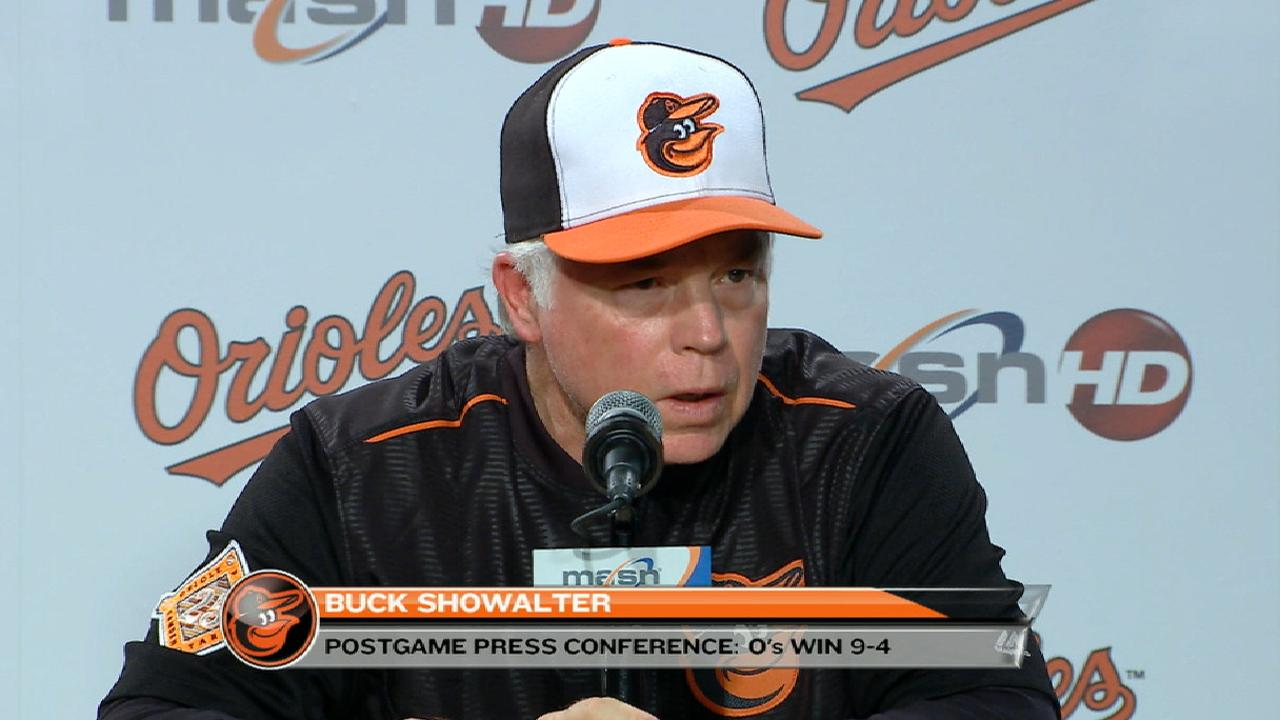 Showalter on Hardy's day, win