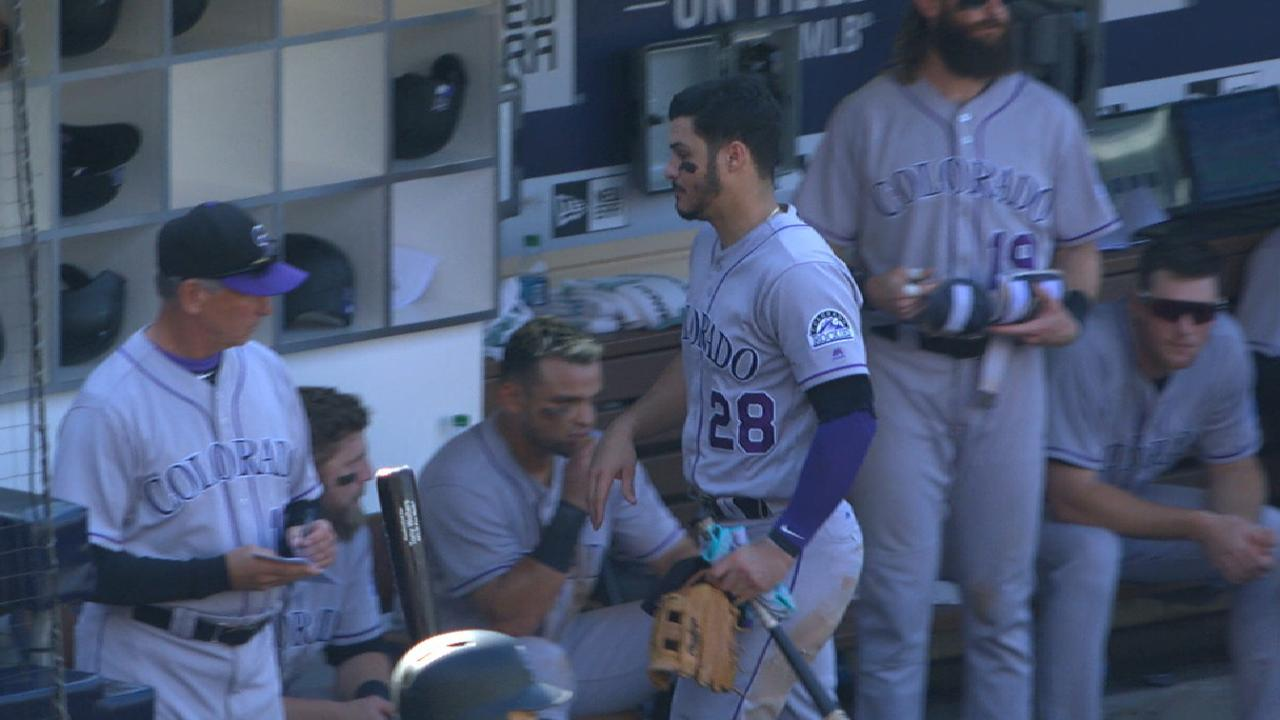 Arenado day to day with right hand injury