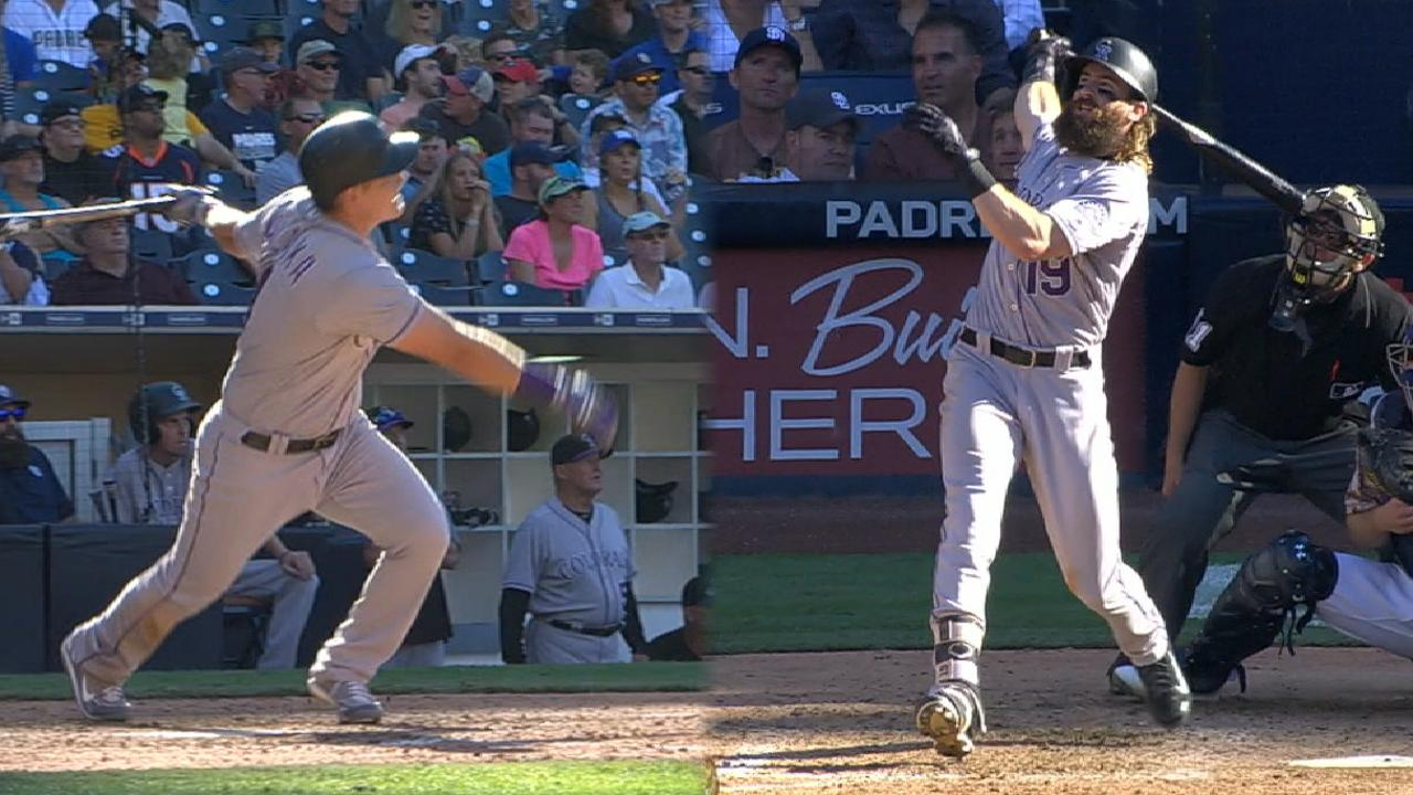 Rockies beat Padres, pad lead for 2nd WC