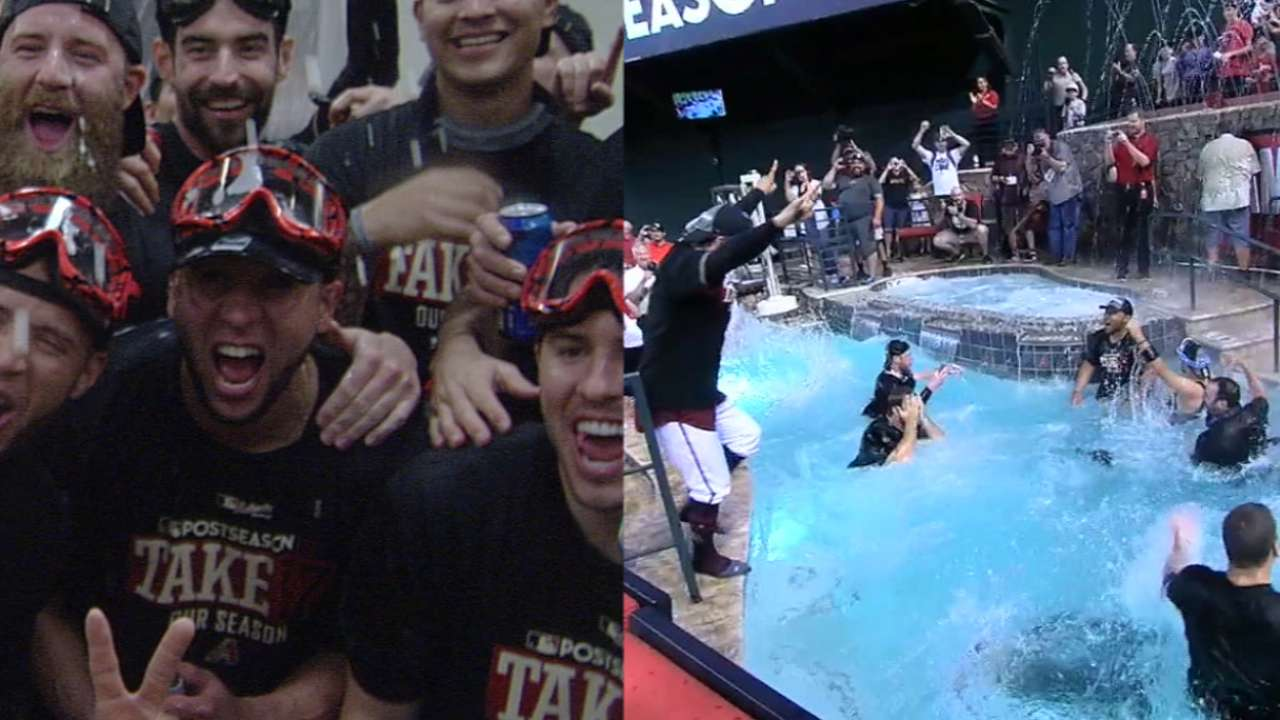 Wild & AZ! D-backs soak up top WC clinch