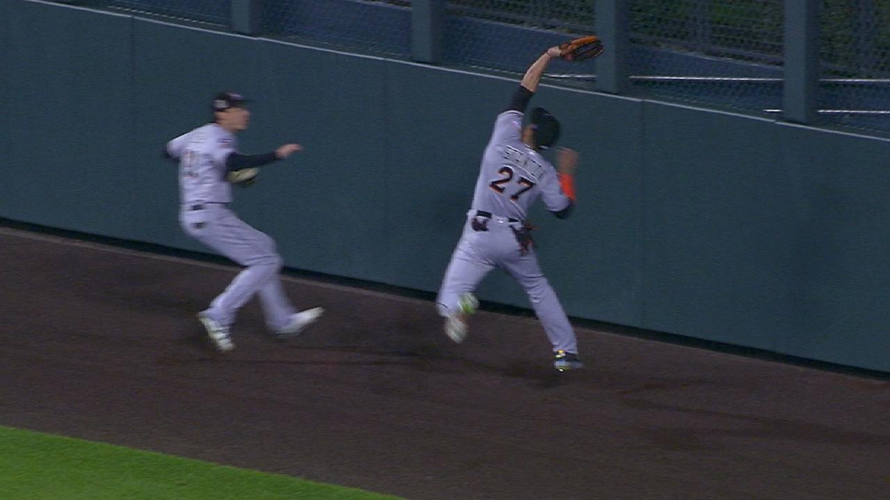 Stanton's superb running catch