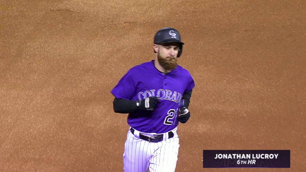 Lucroy's solo home run