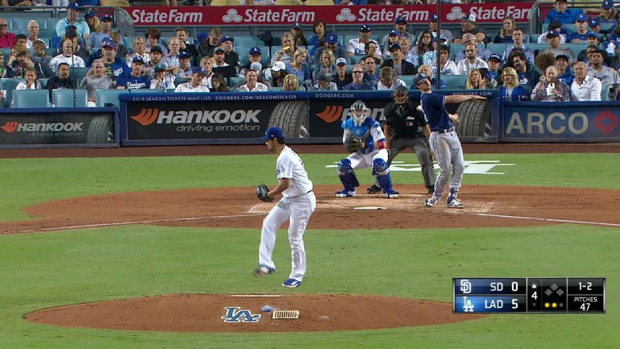 Darvish strikes out Myers, side