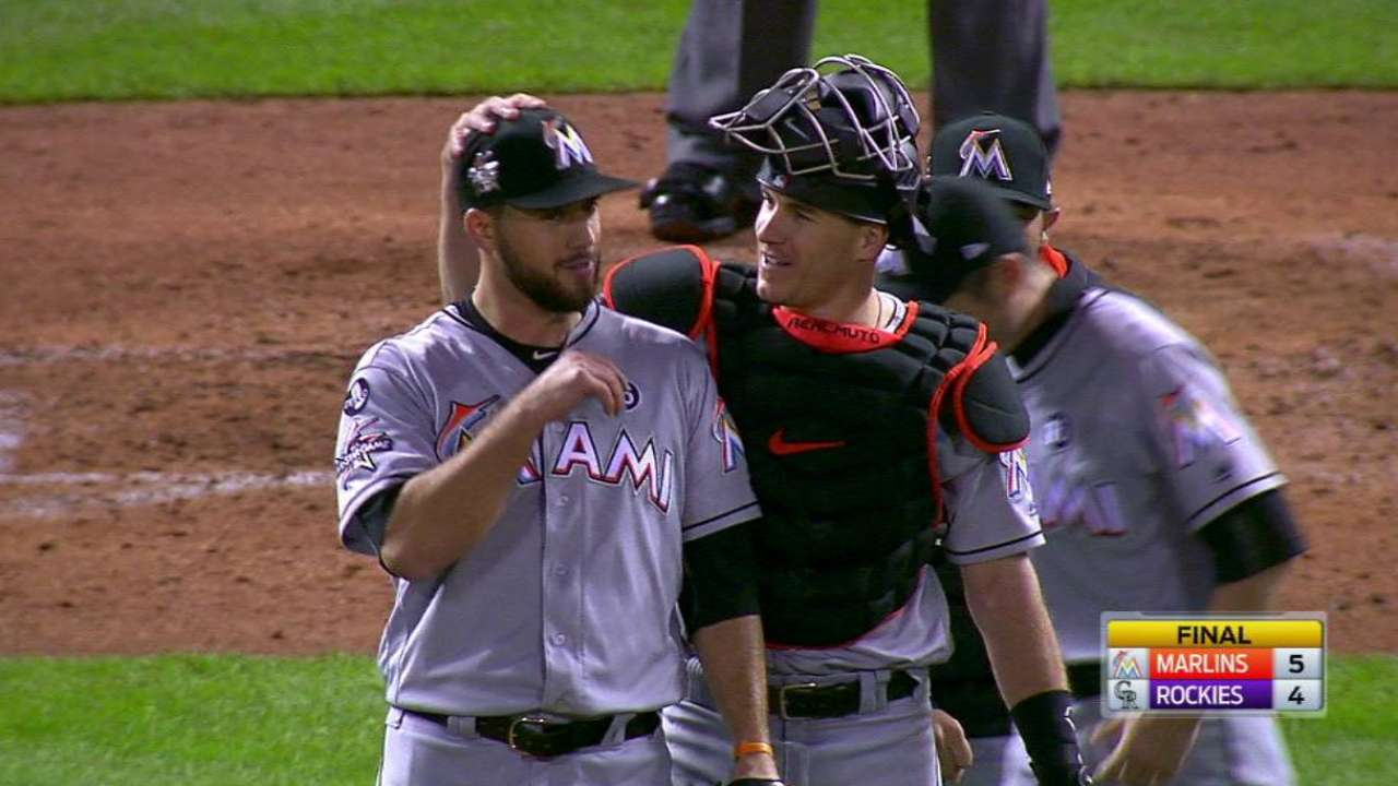 Barraclough's first MLB save