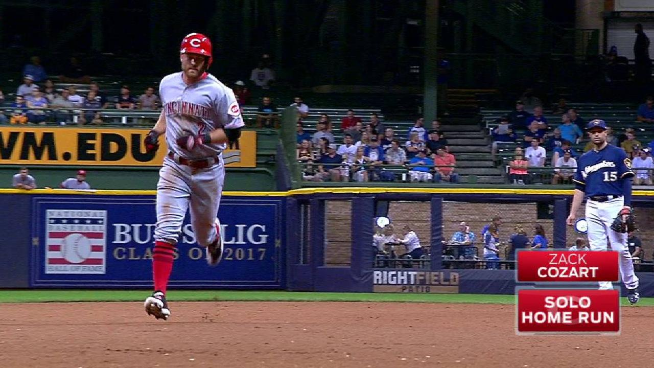 Cozart's solo home run
