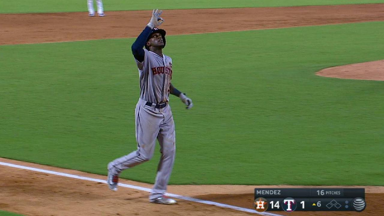 Astros blitz Rangers, 14-3; Tribe in reach?