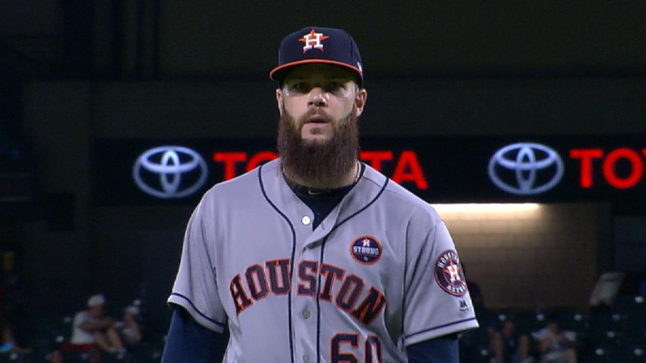Keuchel strikes out eight