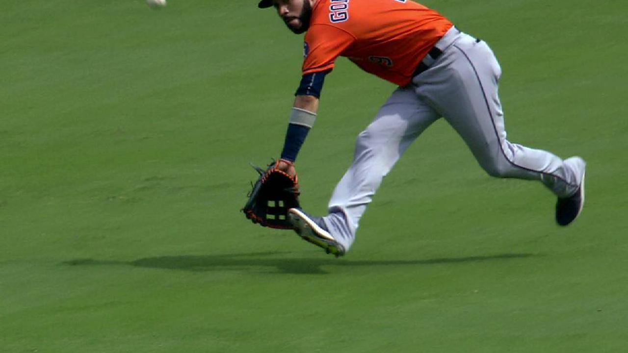Gonzalez's tough lunging grab