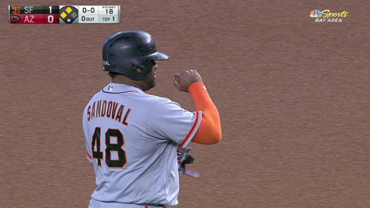 Sandoval's RBI double