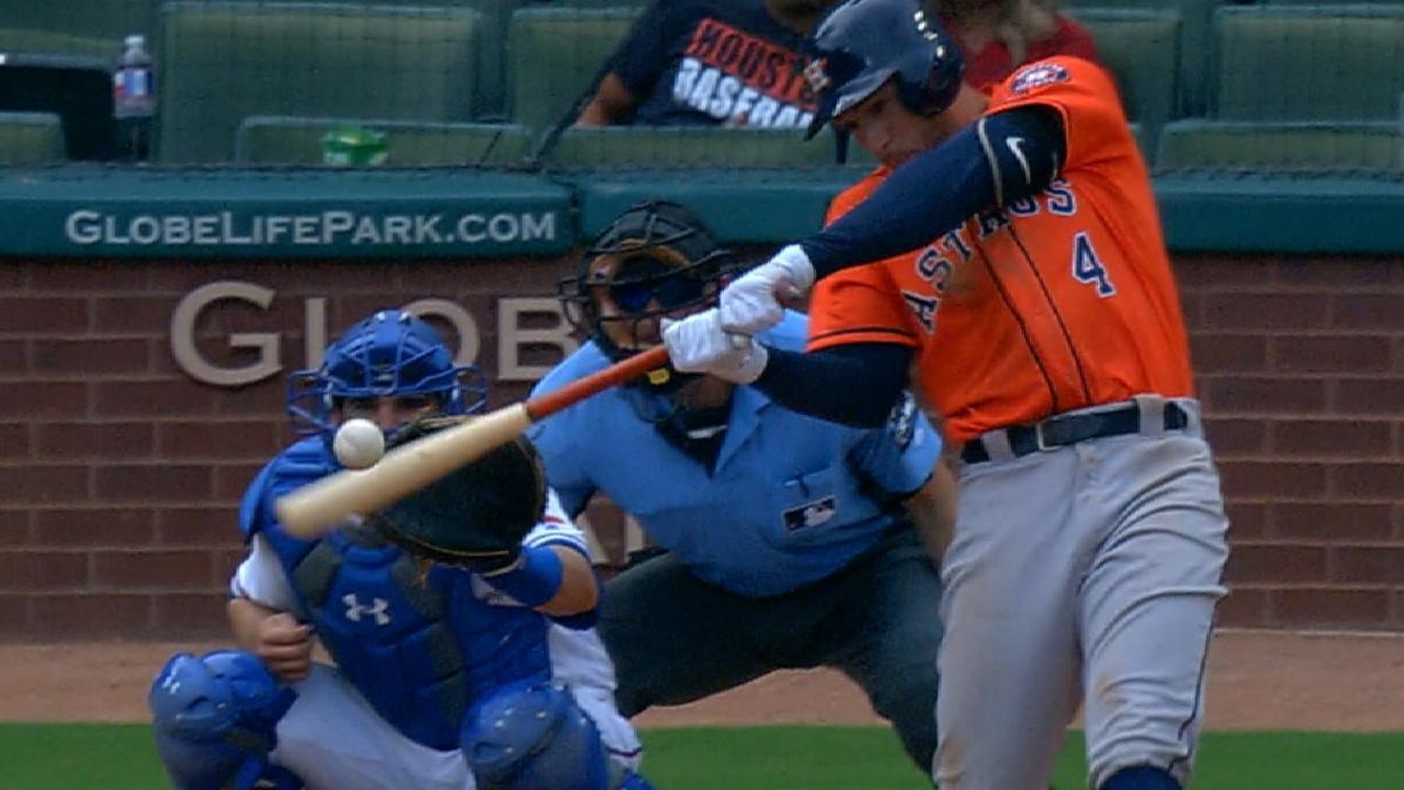 Grand Springer dinger, Correa HRs lead sweep