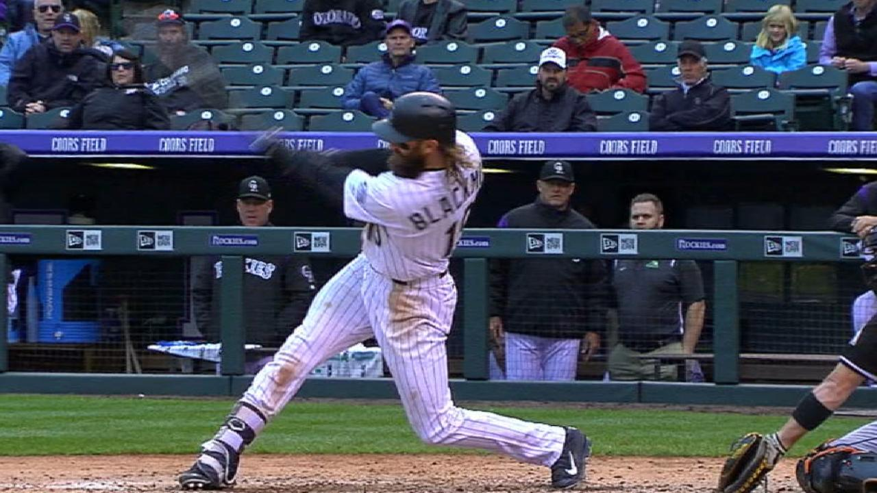 Blackmon's 100th RBI of season