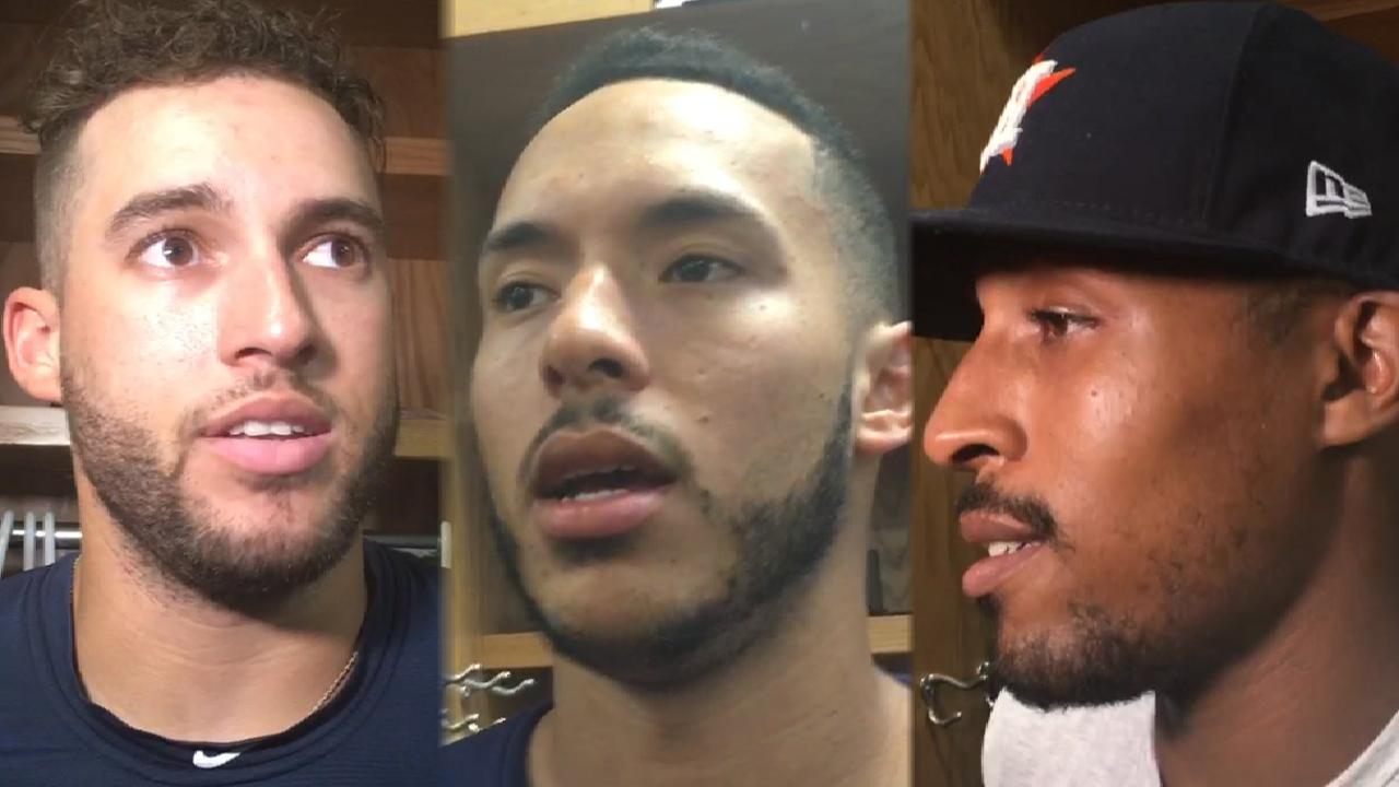 Astros talk hot bats in sweep