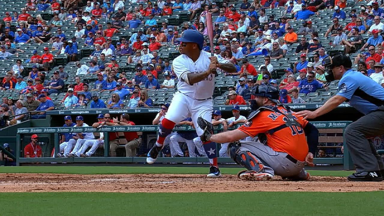 Calhoun on first career homer